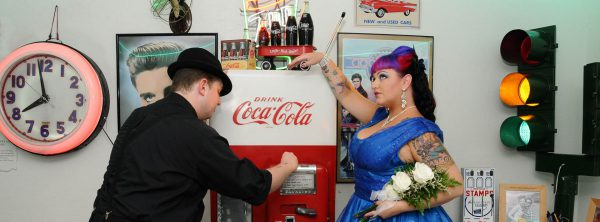 Retro Doo Wop Diner Wedding Reception