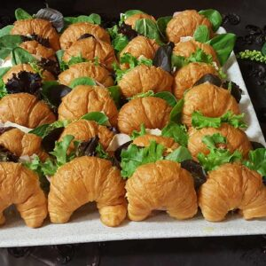 Wedding Reception Crossiant Sandwiches Food Trays
