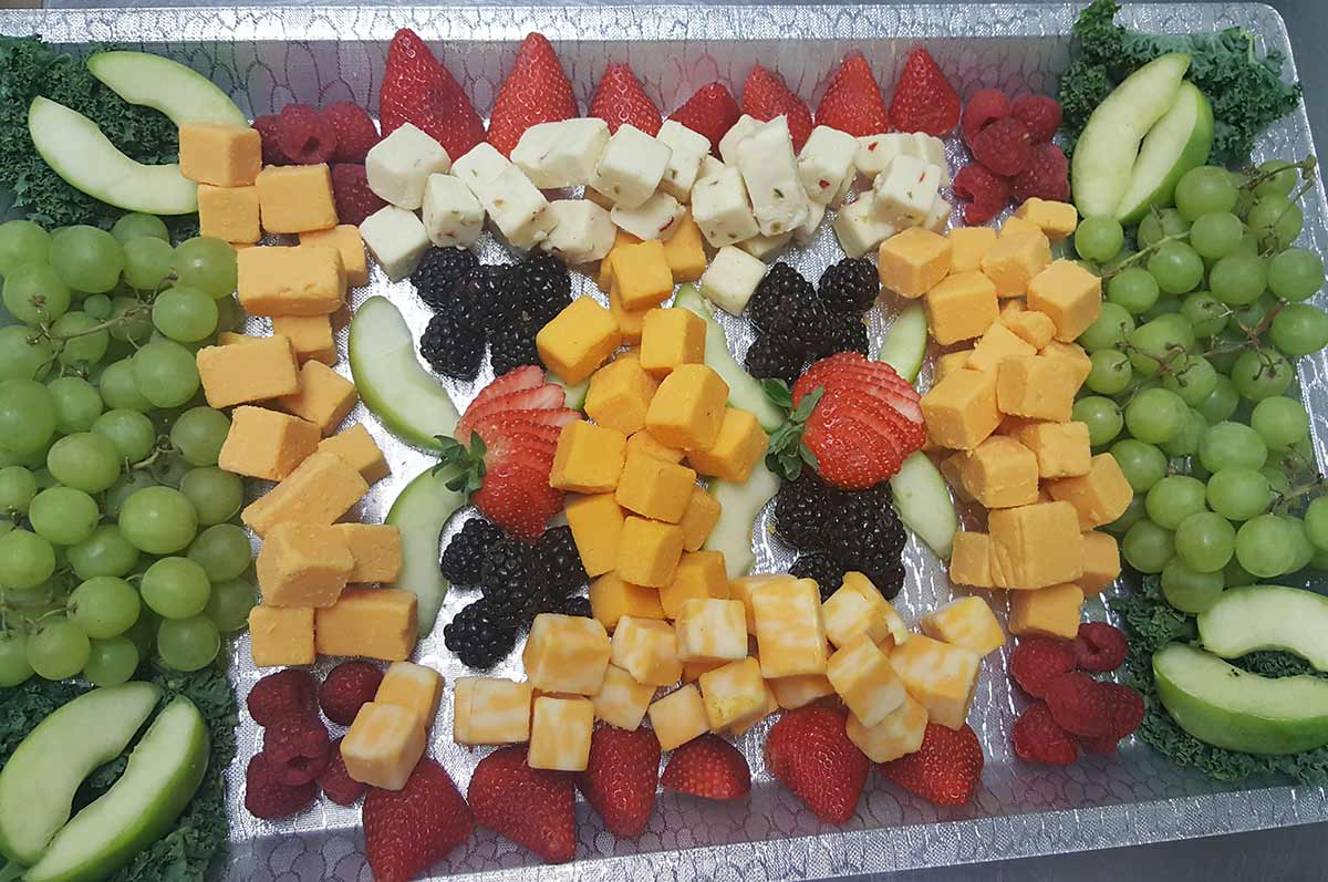 Wedding Reception Cheese and Fruit Food Trays